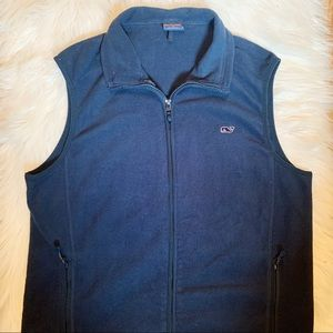 Men's Vineyard Vines Navy Fleece Vest